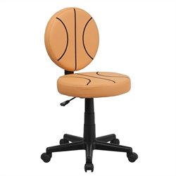 Flash Furniture Basketball Task Chair in Black and Orange