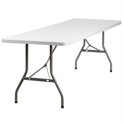 Flash Furniture Plastic Folding Table in White