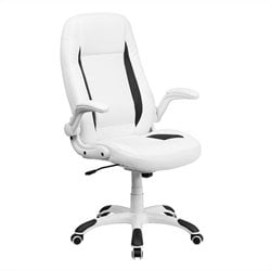Flash Furniture High Back Leather Executive Office Chair in White