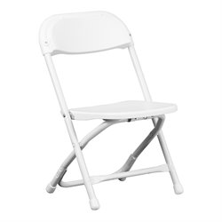 Flash Furniture Kids Plastic Folding Chair in White