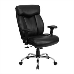 Flash Furniture Hercules Leather Office Chair with Arms in Black