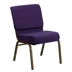 Flash Furniture Hercules Stacking Church Chair in Royal Purple