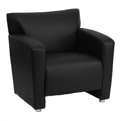 Leather Chair in Black and Cherry