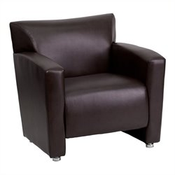 Flash Furniture Hercules Majesty Leather Chair in Brown