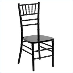 Flash Furniture Supreme Wood Chiavari Chair in Black