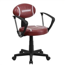 Flash Furniture Football Task Office Chair with Arms in Brown and Black