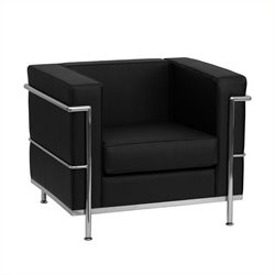 Flash Furniture Hercules Regal Leather Chair in Black