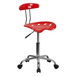Flash Furniture Computer Task Chair in Red