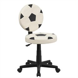 Flash Furniture Soccer Task Chair in Black and White
