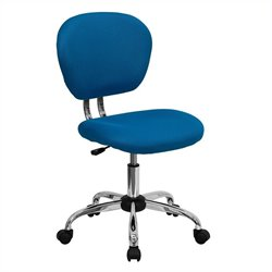 Mid-Back Mesh Task Office Chair in Turquoise