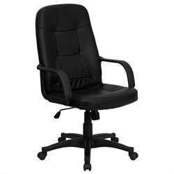 High Back Glove Vinyl Executive Office Chair in Black