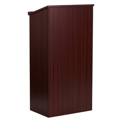 Flash Furniture Stand-up Lectern in Mahogany