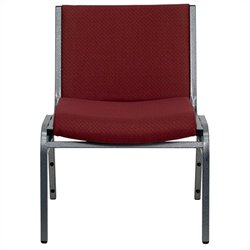 Flash Furniture Hercules Series Extra Wide Stack Chair in Burgundy