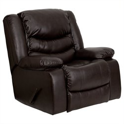 Rocker Recliner in Plush Brown