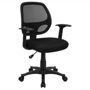 Mid-Back Mesh Computer Office Chair in Black