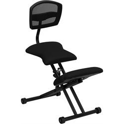 Flash Furniture Ergonomic Kneeling Chair in Black