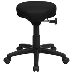 Flash Furniture Saddle-seat Utility Stool in Black