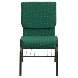 Flash Furniture Hercules Church Stacking Guest Chair in Green