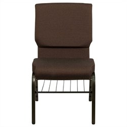 Flash Furniture Hercules Church Stacking Guest Chair in Brown