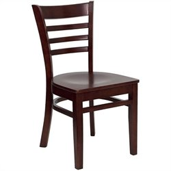 Flash Furniture Hercules Dining Chair in Mahogany with Burgundy Seat