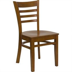 Flash Furniture Hercules Series Ladder Back Restaurant Chair in Cherry