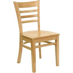 Flash Furniture Hercules Series Restaurant Chair in Natural