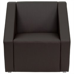 Flash Furniture Hercules Smart Series Reception Chair in Brown