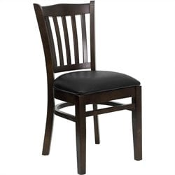 Flash Furniture Hercules Series Restaurant Dining Chair in Black Seat
