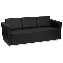 Flash Furniture Hercules Trinity Series Contemporary Sofa in Black