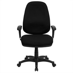 Flash Furniture High Back Computer Chair with Adjustable Arms in Black