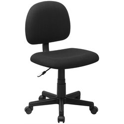 Flash Furniture Armless Ergonomic Task Chair in Black