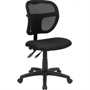 Mid-Back Mesh Task Office Chair with Black Fabric Seat