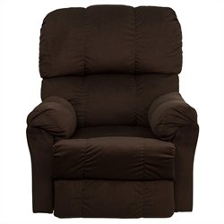Flash Furniture Contemporary Top Hat Rocker Recliner in Chocolate