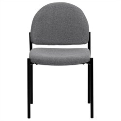 Flash Furniture Stackable Side Chair in Black and Gray