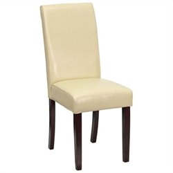 Upholstered Parsons Dining Chair in Ivory