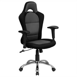 Bucket Seat Office Chair in Gray and Black