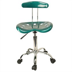 Flash Furniture Vibrant Computer Task Chair Seat in Green and Chrome