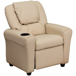 Flash Furniture Kids Recliner in Beige