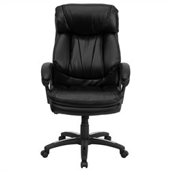 High Back Contemporary Executive Office Chair in Black