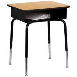 Flash Furniture Student Desk with Open Front Book Box