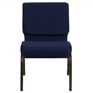 Patterned Church Stacking Guest Chair in Blue