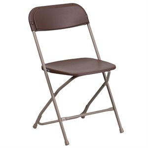 Plastic Folding Chair in Brown