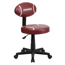 Flash Furniture Football Task Office Chair in Brown and Black
