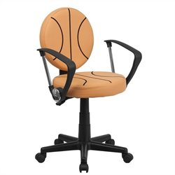 Flash Furniture Basketball Task Office Chair in Black and Orange