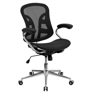 Mesh Computer Office Chair in Black and Chrome