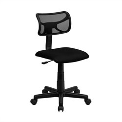 Flash Furniture Mid-Back Mesh Task Chair in Black