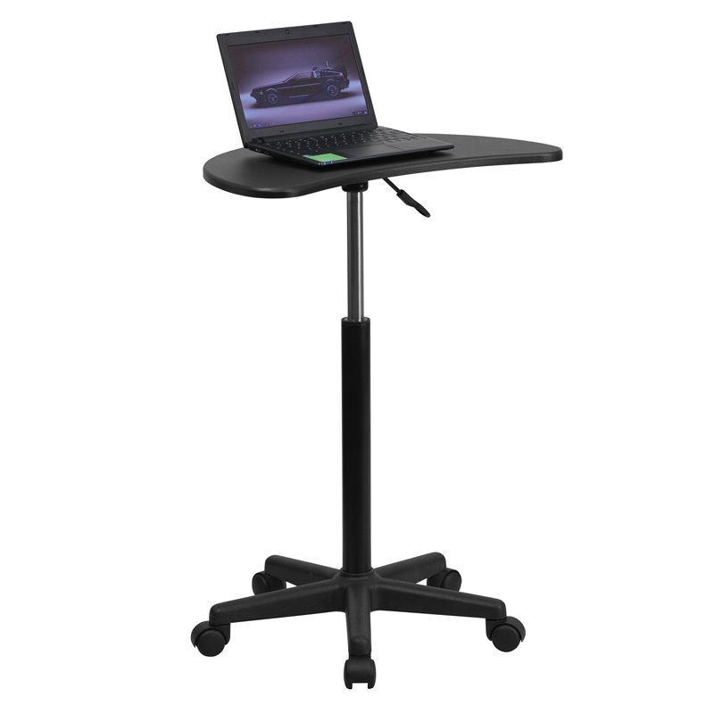 Adjustable Mobile Laptop Computer Desk in Black