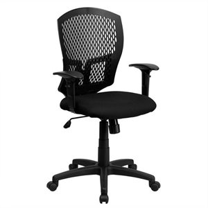 Mid Back Task Office Chair with Arms in Black