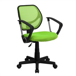 Flash Furniture Mid Back Mesh Task Chair with Arms in Green