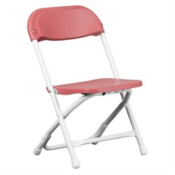Flash Furniture Kids Plastic Folding Chair in Burgundy